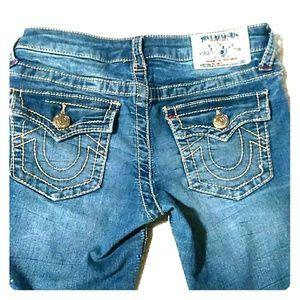 True Religion GIRLS Skinny Capri Jeans 10 LIKE NEW